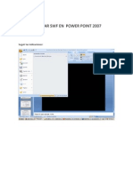INSERTAR SWF EN  POWER POINT 2007