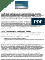 Casestudy Training Functioneel Beheer Website