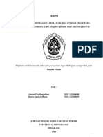 Laporan Penelitian Pengaruh Konsentrasi Etanol, Suhu Dan Jumlah Stage Pada Ekstraksi Oleoresin Ja