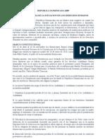 informe derechos humanos 2009