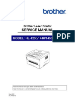 Brother HL-1230. 1440, 1450. 1470n Service Manual