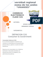 EXPOCICION  C2G CATEGORIA DEL COMERCIO ELECTRÓNICO