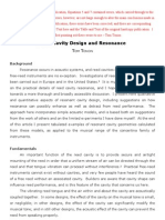 Reed Cavity Design Resonance