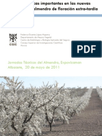 Características Importantes en las Nuevas Variedades de Almendro de Floración Extra-tardía