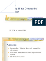 IApplying IT for Competitive Advantage