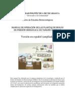 Manual de operación Ampliado de la Planta de Biogás DPH Escala Familar
