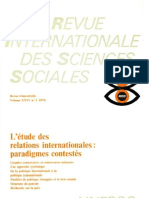 UNESCO l'étude des relations internationales