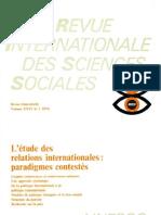 UNESCO l'étude des relations internationales