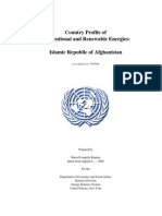 Energy profile for Afghanistan (2006)