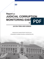 Report on Judicial Corruption Monitoring Exercise in Ghana