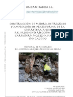 Construcción de mejora de trazado y ampliación de plataforma de la carretera A-3314 P.K. 19,300 (intersección con la carretera A-2622) a P.K. 32,300 (Andagoia). Memoria de resultados del control arqueológico de las obras
