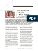 Down Syndrome and Autism Spectrum Disorder