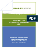 Sustainable Guidelines for Sustainable Sites Initiative