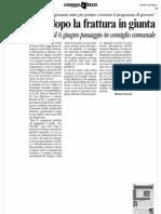 Rimpasto Dopo La Frattura in Giunta - Corriere Ar 25.05.11