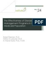 The Effectiveness of Disease Management Programs in the Medicaid Population (2011)