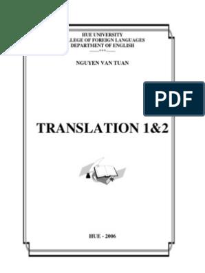Giao Trinh Translation 1 2 - Share-Book   Idiom   Translations