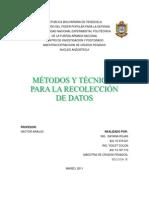 Metodos Para La Recoleccion de Datos.rojaS DAYANA Y COLON YOILET
