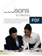 Lessons in Mentoring