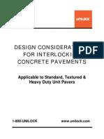 Design Considerations Interlocking Pavements