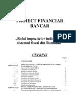 Rolul impozitelor indirecte în sistemul fiscal din România
