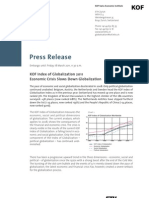 KOF Index of Globalization 2011[1]