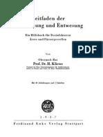 Leitfaden der Entseuchung und Entwesung - H. Kliewe - 1937