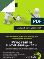 ScieTalk Göttingen 2011 Programm