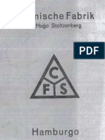 Chemische Fabrik Hugo Stoltzenberg -  CFS - Broschüren