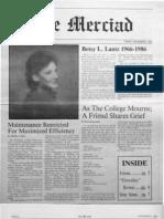 The Merciad, Dec. 5, 1986