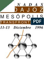 1996 Cartel Jornadas Badajoz Mesopolis Transfronteriza