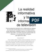La Realidad Informativa y la Información de Televisión
