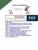 PREMIOS LOLA PIRINDOLA