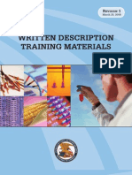 USPTO Written Description Training Materials