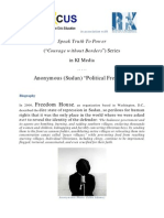 """Speak Truth To Power (Courage Without Borders) Series in KI-Media - Anonymous (Sudan) """"Political Freedom"""""""