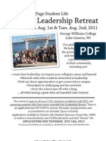 Student Leadership Retreat Application 11