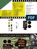 Folder Mostra Audiovisual de Itabuna Cine Mocamba Cinema Negro in Foco