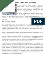 Fukushima brings together Tokyo, Seoul and Beijing