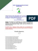 E-book - Fórmulas de produtos de limpeza