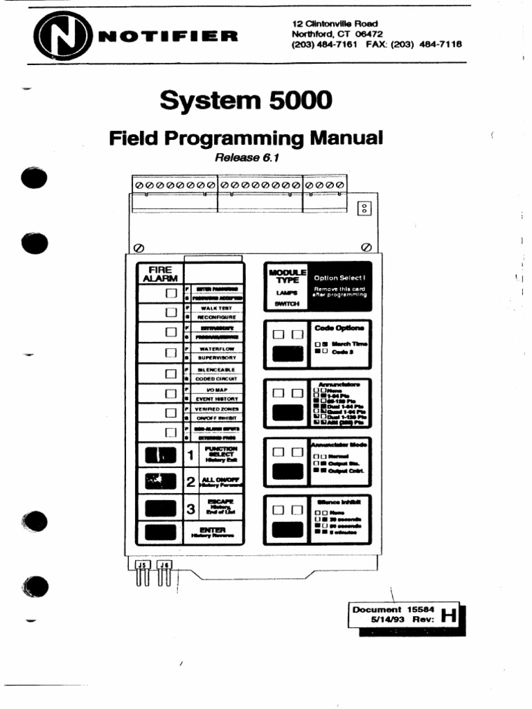 Fire Notifier 5000 Sys Program Manual