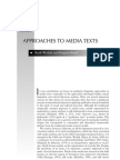 Approaches to Media Texts