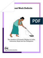 Decent Work Deficits - The Situation of Domestic Workers in India Indonesia Nepal and the Philippines