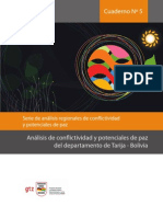 Cuaderno Nº 5 Análisis de conflictividad y potenciales de paz del departamento de Tarija - Bolivia
