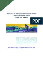 Lineamientos normativos para la comunicacion Comunitaria en Bolivia