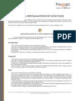 GoZ Manual Install