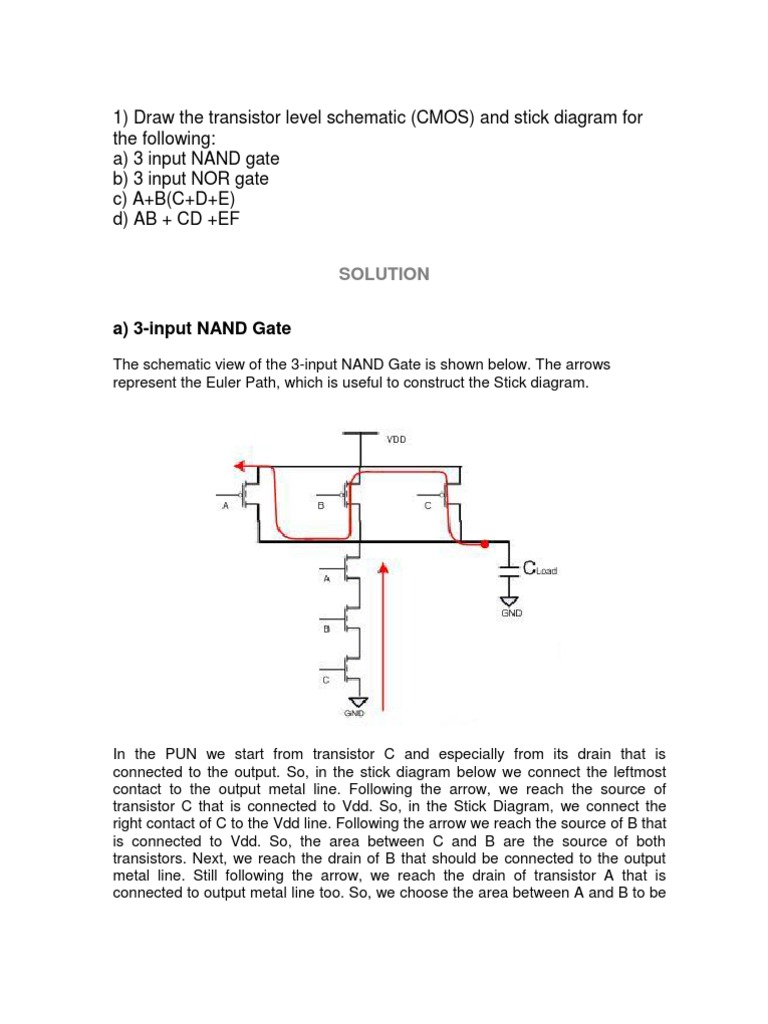 Stick Diagram Examples | Fonction logique | Informatique ... on