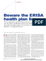 Beware the ERISA Health Plan Lien