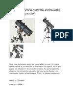Se Vende Telescopio Celestron Astromaster 130 Eq Como Nuevo
