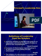 Principals' Leadership Role.