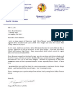 LAUSD Board Member Marguerite LaMotte Letter on Mark Ridley-Thomas Motion