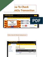 Check Maybank2u Transaction History